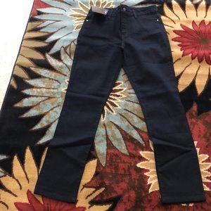 Black modern stretch jeans